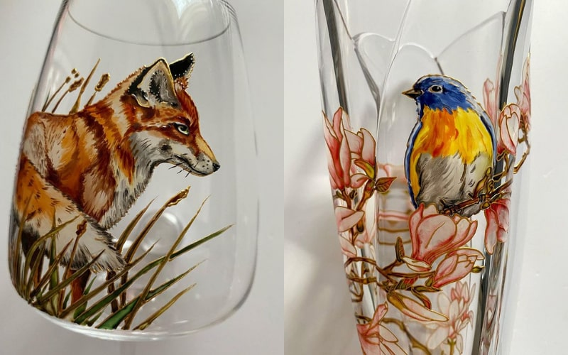Nature-inspired glass paintings by Artanett - Image by Artanett