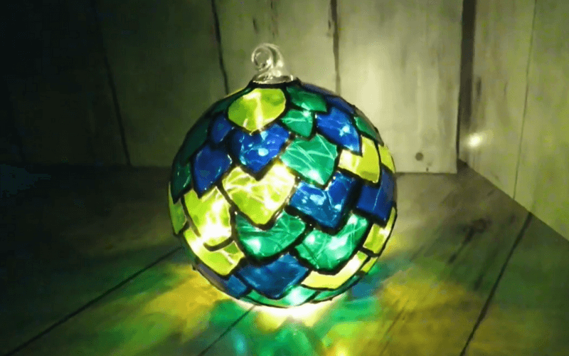 Painted glass lamps - Image by Cris Crafts