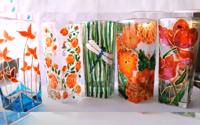 Painting on drinking glasses - Image by Creative Art