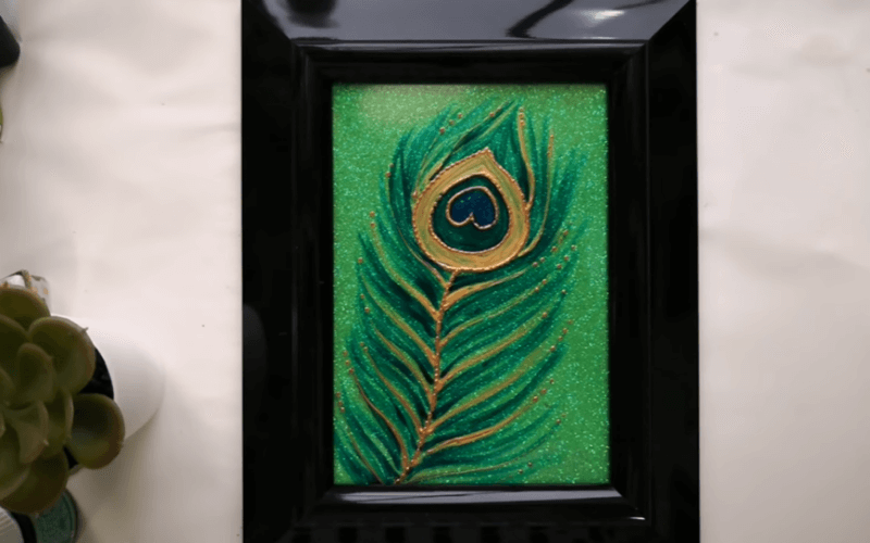 Peacock feather painting - Image by Swapna Nomboodiri
