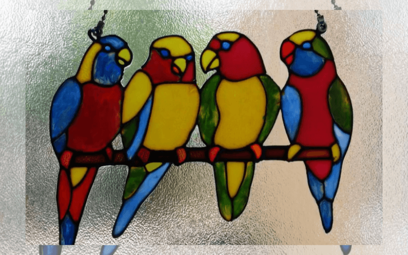 Shaped suncatcher - Image by Glass Painting
