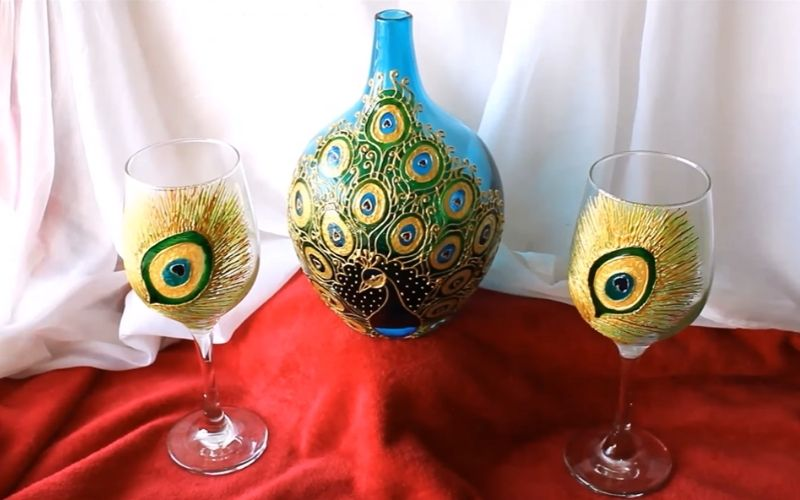 Stained Glass Painting on Wine Glasses