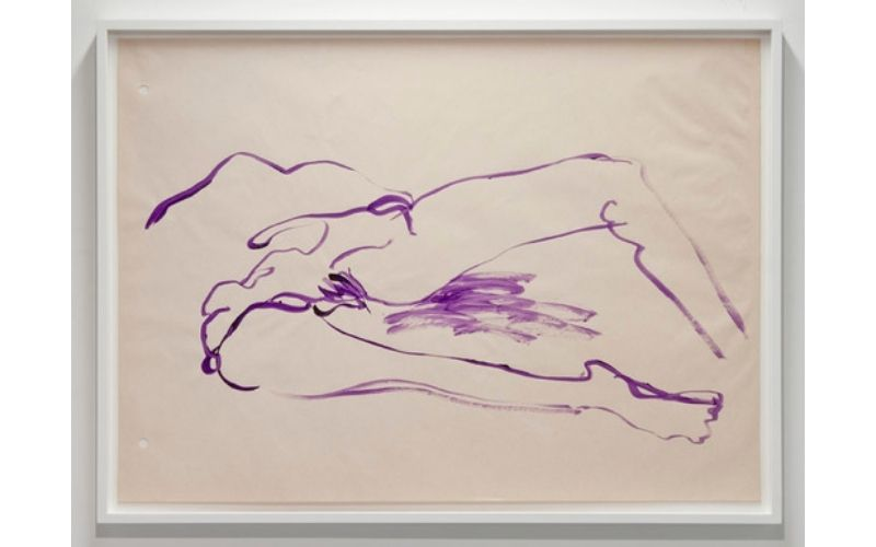 Untitled watercolor painting from The Purple Virgin series