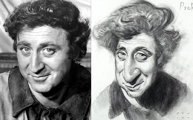 A caricature of Gene Wilder - Image by Proko