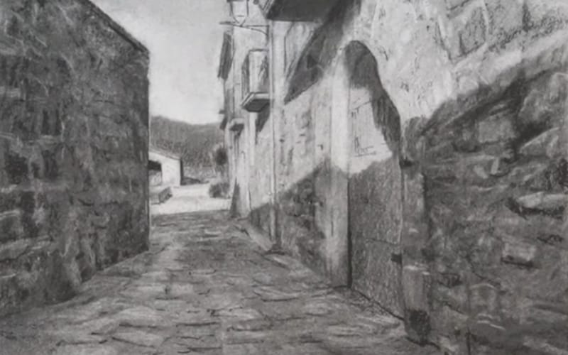 A hardscape of an old town alley - Image by ArtistsNetwork