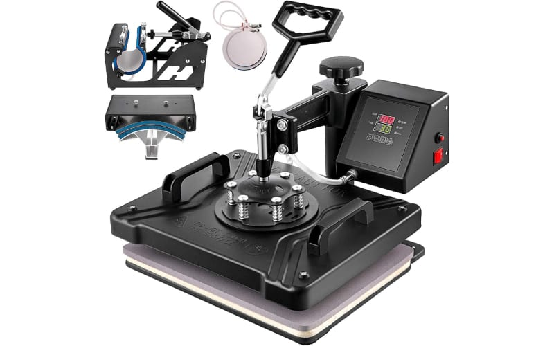 a hover-type machine with the other devices for making mugs, caps, and plates