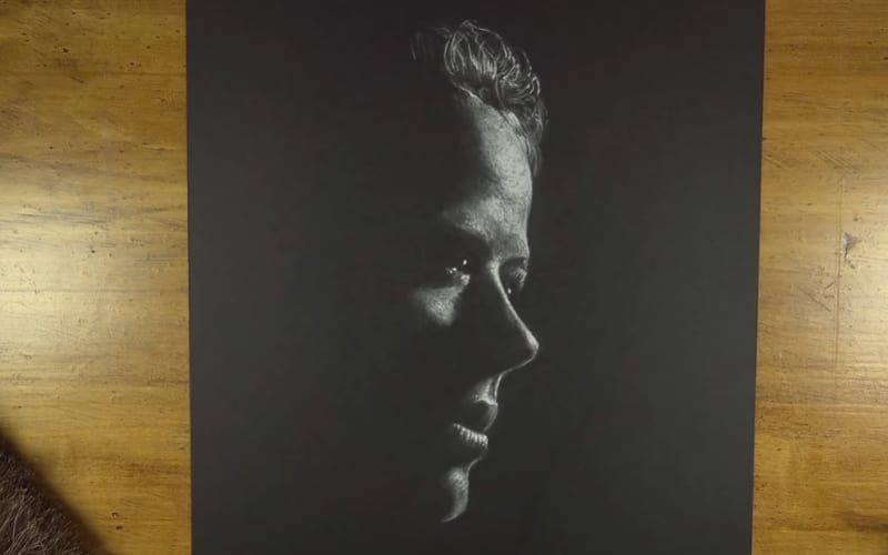 A portrait on black paper - Image by The Virtual Instructor