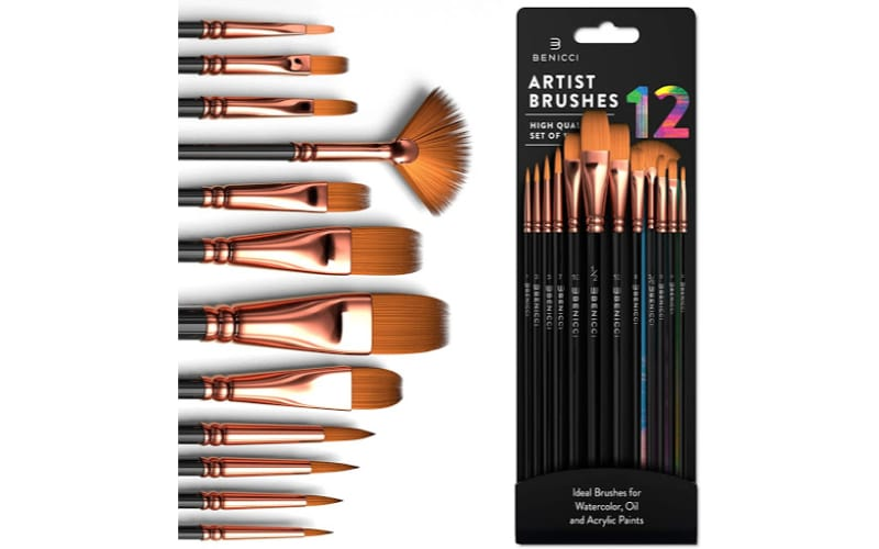 a set of artists paintbrushes of different sizes