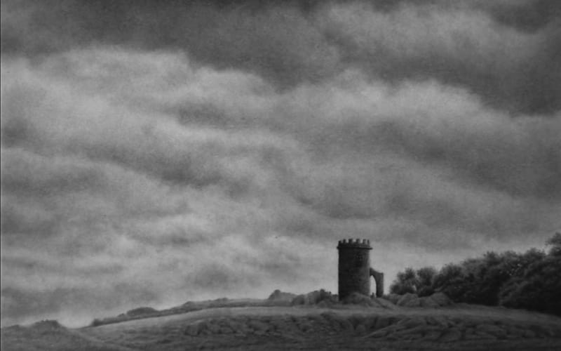 A stormy skyscape with old ruins in the foreground - Image by Smoothie77 Drawing & Painting