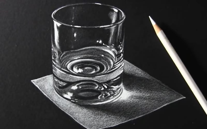 A white charcoal art - Image by Mark Crilley