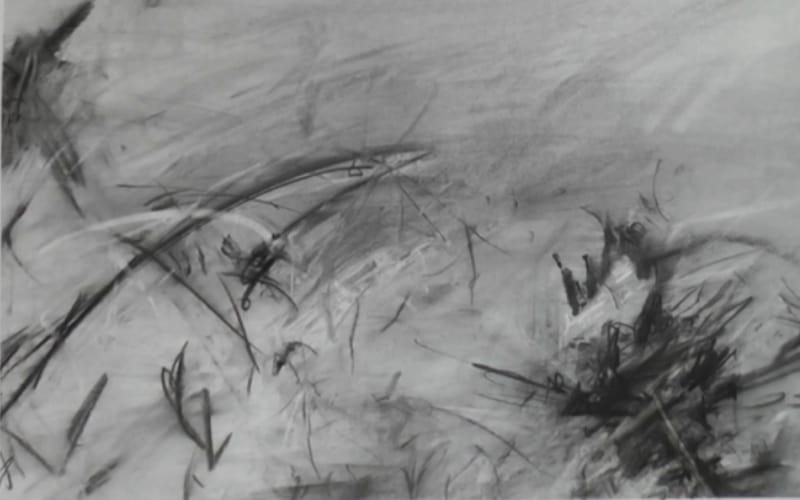 An abstract landscape drawing - Image by Phil Reynolds