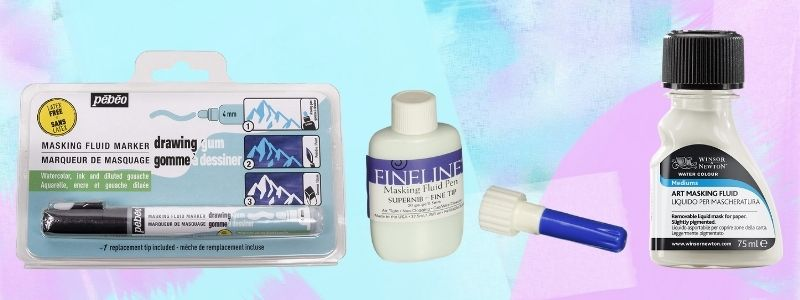 different types of masking fluid