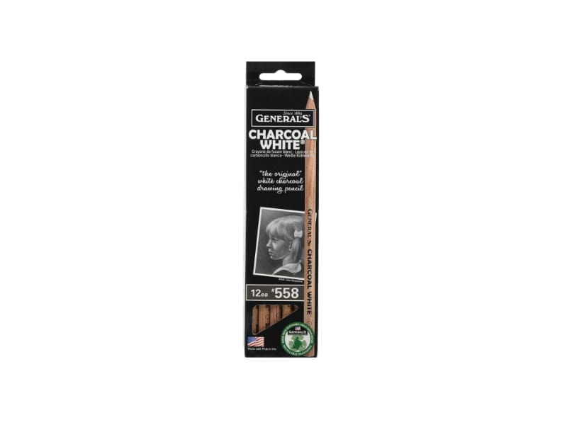 General's White Charcoal Pencils