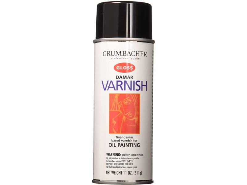 Grumbacher final Damar varnish to apply a permanent varnish over your oil painting