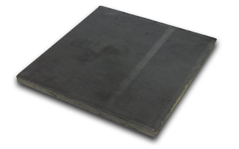 A steel plate to use as ramming plates for embossing larger patterns
