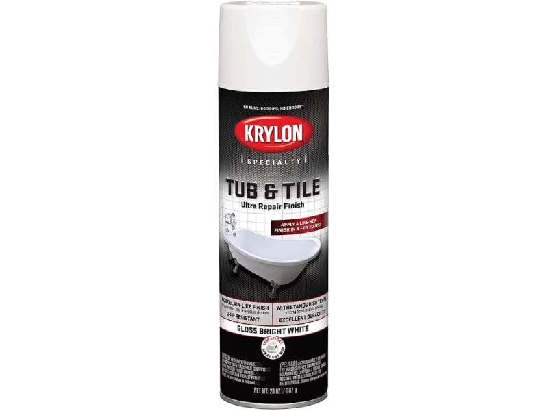Krylon Tub and Tile Epoxy Spray Paint for restoring kitchen sinks, bathtubs, and other glossy, non-porous surfaces