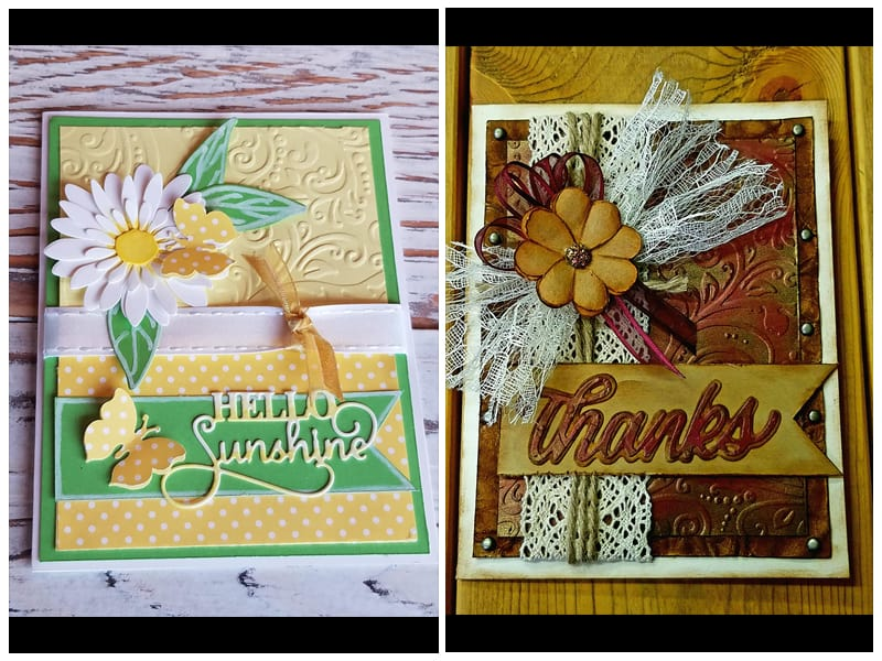Kwan Crafts Leaves Plastic Embossing Folder review