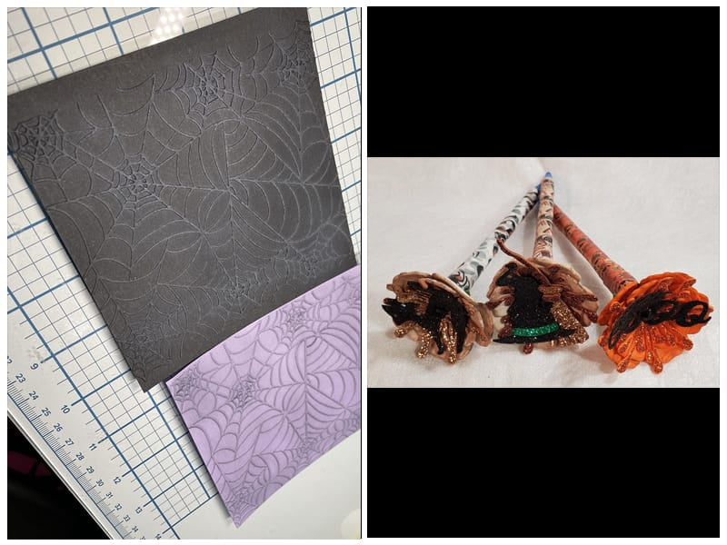 Kwan Crafts Spider Web Embossing Folder review