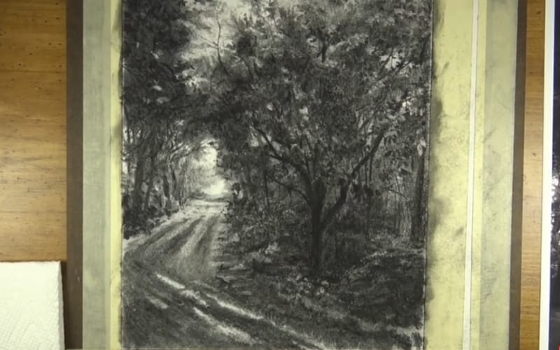 Landscape charcoal drawing - Image by The Virtual Instructor