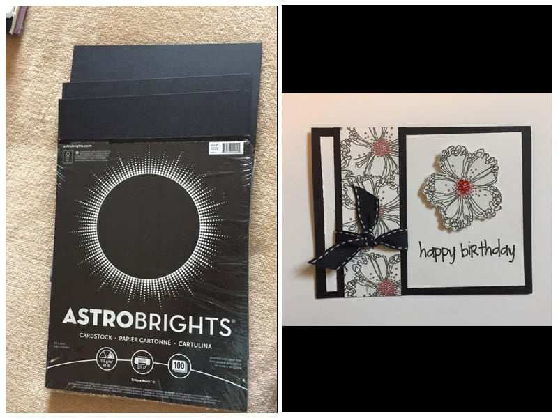Neenah Paper Astrobrights Black Cardstock review