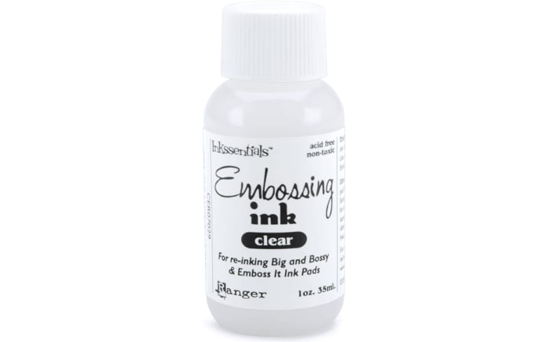 a 35ml bottle of Ranger Inkssentials Clear Embossing Ink