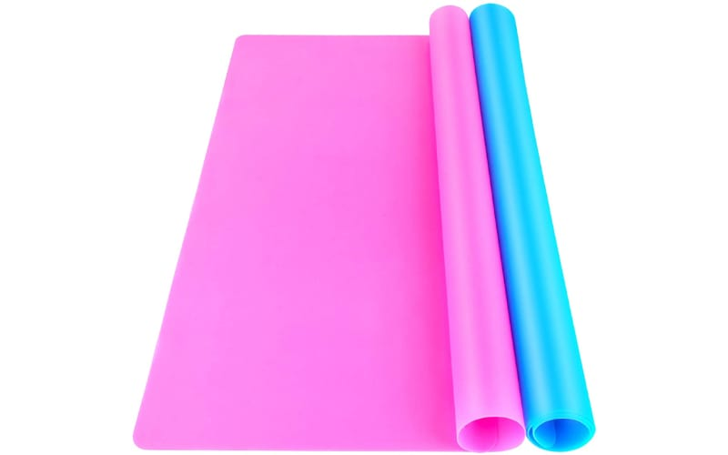pink and blue silicone mats
