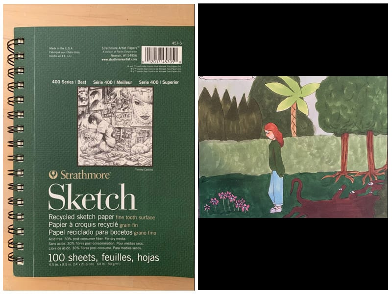 Strathmore 400 Series Recycled Sketch Pad review