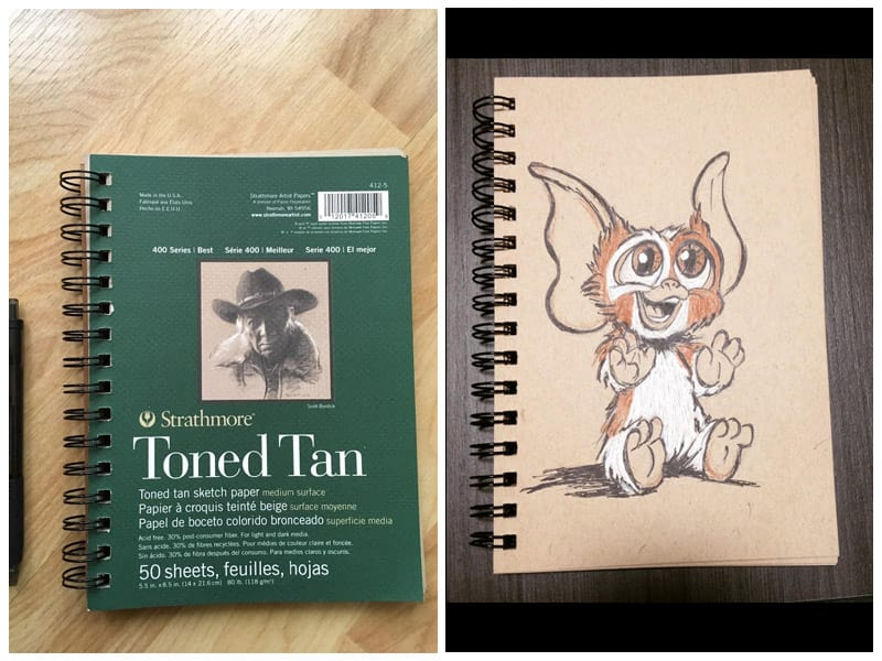 Strathmore Tan 400 Series Charcoal Drawing Sketch Book review