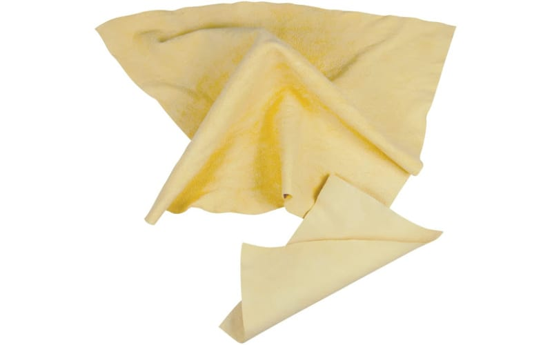 two pieces of artist chamois cloth