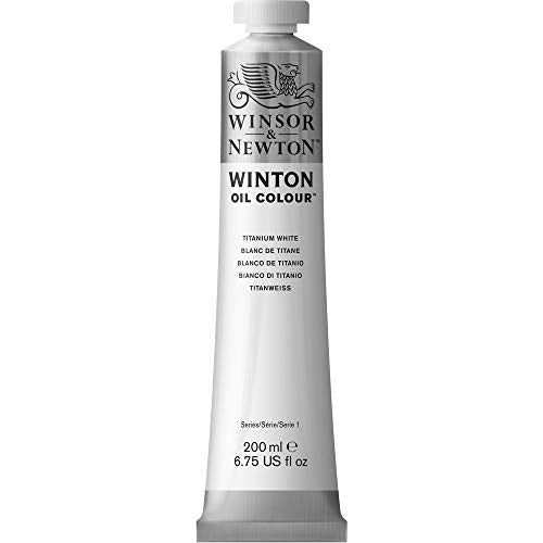 Winsor & Newton 1437644 Winton Oil Color Paint, 200-ml Tube, Titanium White