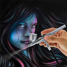 Load image into Gallery viewer, Master Performance G222 Pro Set Master Airbrush with 3 Nozzle Sets (0.2, 0.3 & 0.5mm Needles, Fluid Tips and Air Caps) - Dual-Action Gravity Feed Airbrush with 1/3 oz. Cup - Spray Auto Art Hobby Cake