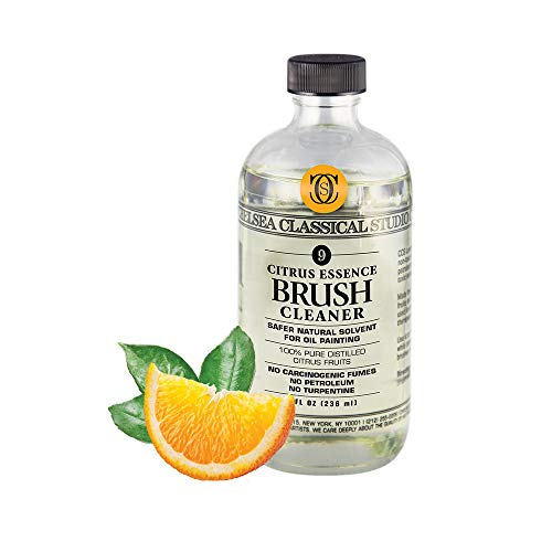 Chelsea Classical Studio Citrus Essence Brush Cleaner for Making Paintbrush Hair Subtle Maintaining Maximum Working Quality - [32 oz. Bottle]