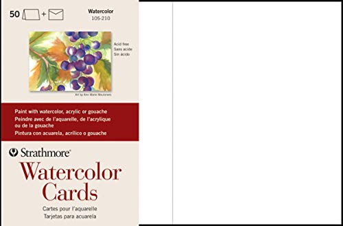 Strathmore 105-210-1 Watercolor Cards, Cold Press, 5