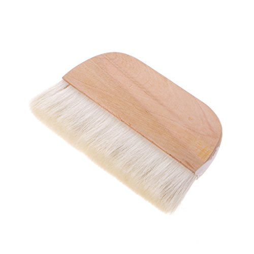 Qupida 8in Goat Hair Hake Brushes Wooden Handle Watercolor Brush Paint Brush Art Supplies