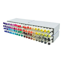 "Load image into Gallery viewer, Deflecto Expandable Marker Accordion Storage Case, 8.5"" x 8.6"" x 7.5"", Clear"