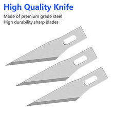 Load image into Gallery viewer, Exacto Knife Blades 100 Pack #11 Precision Knife Replacement Blades for Art and Craft Scrapbooking Supplies Caving Stencil
