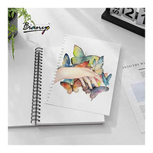 "Load image into Gallery viewer, Bianyo Mixed Media Paper Pad, A4 (8.26"" X 11.69""), 60 Sheets/Each, 123 LB/200 GSM, Pack of 1 Pad, Spiral-Bound Pad, Ideal for Wet & Dry Media Like Art Marker, Watercolor, Acrylic, Pastel, Pencil"