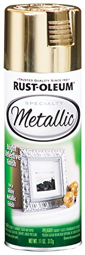 Rust-Oleum 1910830-6 PK Specialty Metallic 1910830 Spray Paint 11 oz, Gold, 6-Pack, 6 Pack, 66 Fl Oz
