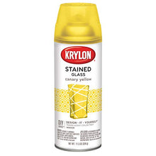 Load image into Gallery viewer, Krylon K09035000 Stained Glass Aerosol Paint, 11.5 oz, Canary Yellow