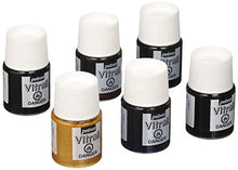 Load image into Gallery viewer, Pebeo Vitrail, Discovery Set of 6 Assorted Stained Glass Effect Paints, 20 ml Bottles