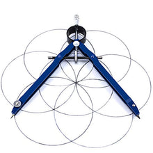 Load image into Gallery viewer, Offizeus Professional Compass for Geometry with Extra Lead Refills - Makes 10 Inch Circle - Math Compass, Drawing Compass - Metal Precision Bow Compass with Lock - for Drafting, School, Woodworking