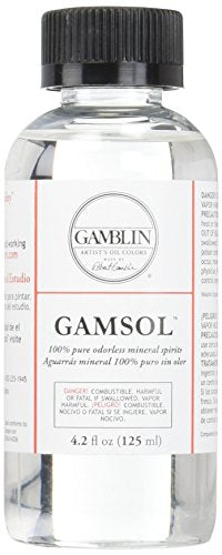 Gamblin Gamsol Odorless Mineral Spirits Bottle, 4.2oz