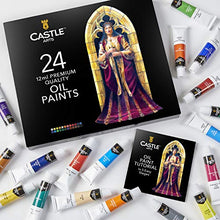 Load image into Gallery viewer, Castle Art Supplies Oil Paint Set - 24 Vibrant Colors in Tubes - Excellent Value Supplies with Beautiful Saturation and Coverage. This Set Makes it Easy and Fun to Explore Oil Painting
