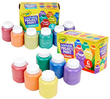 Load image into Gallery viewer, Crayola Washable Kids Paint, 12 Count, Amazon Exclusive, Gift, Assorted and Glitter