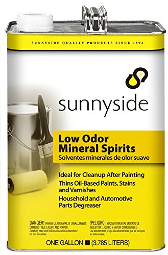 Sunnyside Corporation 803G1 Low Odor Mineral Spirits Paint Thinner, Cleaner and Degreaser, Gallon, 6 Pack