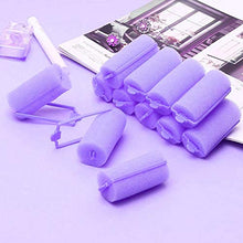 Load image into Gallery viewer, 36 Pieces Foam Sponge Hair Rollers - Soft Sleeping Hair Curlers Flexible Hair Styling Curlers Sponge Curlers for Hair Styling (Purple)