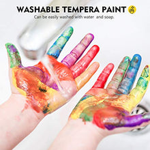 Load image into Gallery viewer, Washable Tempera Paint for Kids, Magicfly 30 Colors (2 oz Each) Liquid Poster Paint, Non-Toxic Kids Paint with Fluorescent Glitter Metallic Neon Colors for Finger Painting, Hobby Painters