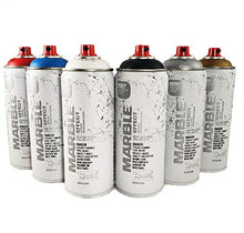 Load image into Gallery viewer, Montana Cans Marble Effect Spray Paint 400mL Set of 6 Main Colors