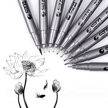 Load image into Gallery viewer, Xinpengniao Black Micro drawing Pens - Waterproof Archival Ink, Sketching, Anime, Illustration, Technical Drawing, Comic Manga Scrapbooking and School Using, fineliner pen 9Pcs/Set