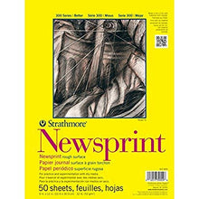"Load image into Gallery viewer, Strathmore 300 Series Newsprint Pad, Smooth 18""x24"" Tape Bound, 50 Sheets"